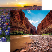 Reminisce - Texas Collection - 12 x 12 Double Sided Paper - Big Bend National Park