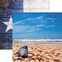Reminisce - Texas Collection - 12 x 12 Double Sided Paper - Man-O'-War on Padre Island