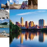 Reminisce - Texas Collection - 12 x 12 Double Sided Paper - Downtown Austin
