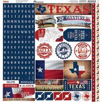 Reminisce - Texas Collection - 12 x 12 Alpha Sticker