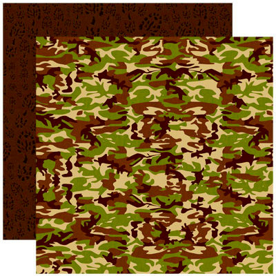 Reminisce - The Great Outdoors Collection - 12 x 12 Double Sided Paper - Traditional Camo