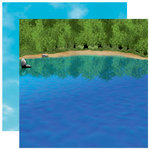 Reminisce - The Great Outdoors Collection - 12 x 12 Double Sided Paper - At the Lake