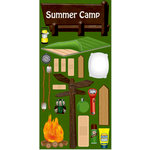 Reminisce - The Great Outdoors Collection - Die Cut Cardstock Stickers - Summer Camp