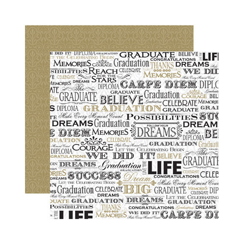 Reminisce - The Graduate Collection - 12 x 12 Double Sided Paper - Follow Your Dreams
