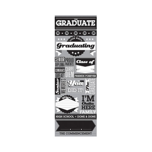 Reminisce - The Graduate Collection - Cardstock Stickers - Graphic - The Graduate
