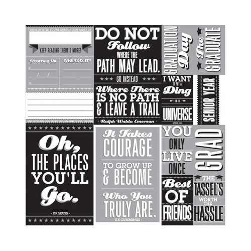 Reminisce - The Graduate Collection - 12 x12 Cardstock Stickers