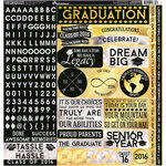 Reminisce - The Graduate Collection - 12 x 12 Cardstock Stickers - Combo