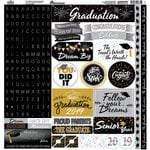 Reminisce - The Graduate Collection - 12 x 12 Cardstock Stickers - Elements