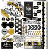 Reminisce - The Graduate Collection - 12 x 12 Cardstock Sticker Sheet