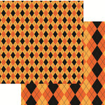 Reminisce - Halloween Collection - 12 x 12 Double Sided Paper - Halloween Argyle