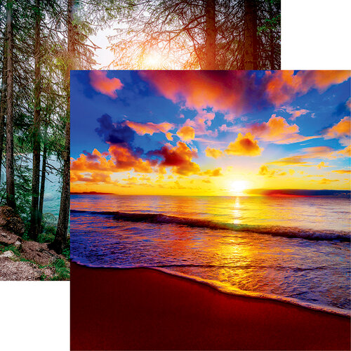 Reminisce - The Journey Beyond Collection - 12 x 12 Double Sided Paper - Sunrise Reverie