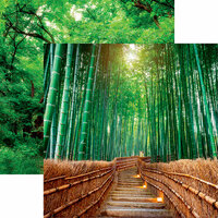 Reminisce - The Journey Beyond Collection - 12 x 12 Double Sided Paper - Bamboo Byway