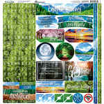 Reminisce - The Journey Beyond Collection - 12 x 12 Alpha Cardstock Stickers