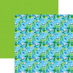 Reminisce - The Menagerie Collection - 12 x 12 Double Sided Paper - Happy Frogs