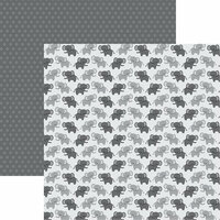 Reminisce - The Menagerie Collection - 12 x 12 Double Sided Paper - Unforgettable Elephants