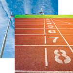 Reminisce - Track and Field Collection - 12 x 12 Double Sided Paper - Running Lanes