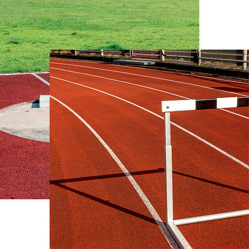 Reminisce - Track and Field Collection - 12 x 12 Double Sided Paper - Field Event