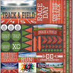 Reminisce - Track and Field 2 Collection - 12 x 12 Cardstock Stickers - Elements