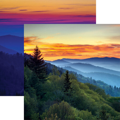 Reminisce - 12 x 12 Double Sided Paper - Great Smokey Mountains