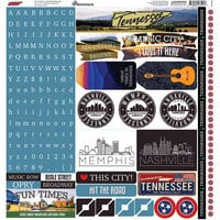 Reminisce - 12 x 12 Cardstock Stickers - Tennessee