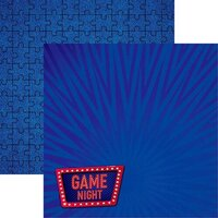 Reminisce - There's No Place Like Home Collection - 12 x 12 Double Sided Paper - Game Night