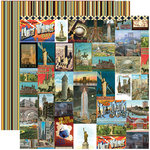 Reminisce - Travelogue Collection - 12 x 12 Double Sided Paper - Journey of a Thousand Miles