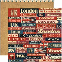 Reminisce - Travelogue Collection - 12 x 12 Double Sided Paper - London