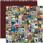 Reminisce - Travelogue Collection - 12 x 12 Double Sided Paper - Wanderlust
