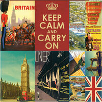 Reminisce - Travelogue Collection - 12 x 12 Cardstock Stickers - Travelogue London