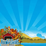 Reminisce - The State Line Collection - 12 x 12 Paper - New Hampshire