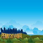Reminisce - The State Line Collection - 12 x 12 Paper - Pennsylvania
