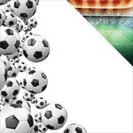 Reminisce - The Soccer Collection - 12 x 12 Double Sided Paper - Soccer Border
