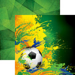 Reminisce - Soccer 2 Collection - 12 x 12 Double Sided Paper - Splash