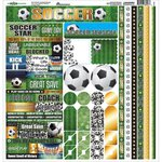 Reminisce - The Soccer Collection - 12 x 12 Cardstock Stickers - Multi