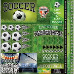 Reminisce - Soccer 2 Collection - 12 x 12 Cardstock Stickers - Elements