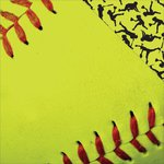 Reminisce - The Softball Collection - 12 x 12 Double Sided Paper - Softball Close-Up