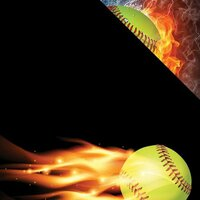Reminisce - The Softball Collection - 12 x 12 Double Sided Paper - Softball on Fire