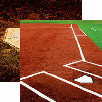 Reminisce - Softball 2 Collection - 12 x 12 Double Sided Paper - Infield