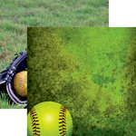 Reminisce - Softball 2 Collection - 12 x 12 Double Sided Paper - Softball