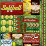 Reminisce - Softball 2 Collection - 12 x 12 Cardstock Stickers - Elements