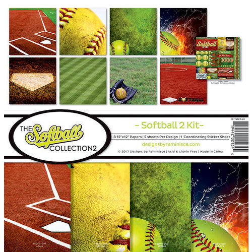 Reminisce - Softball 2 Collection - 12 x 12 Collection Kit