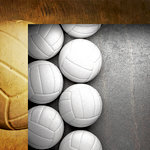 Reminisce - The Volleyball Collection - 12 x 12 Double Sided Paper - Volleyball Border