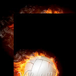 Reminisce - The Volleyball Collection - 12 x 12 Double Sided Paper - Volleyball on Fire