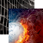 Reminisce - Volleyball 2 Collection - 12 x 12 Double Sided Paper - Fire and Ice