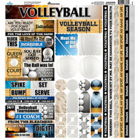 Reminisce - The Volleyball Collection - 12 x 12 Cardstock Stickers - Multi