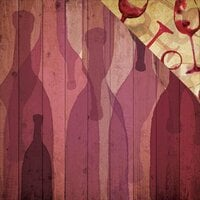 Reminisce - The Winery Collection - 12 x 12 Double Sided Paper - A Bottle of Red