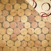 Reminisce - The Winery Collection - 12 x 12 Double Sided Paper - Wine Corks