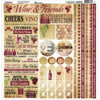Reminisce - The Winery Collection - 12 x 12 Cardstock Stickers - Multi