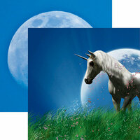 Reminisce - Unicorn Magic Collection - 12 x 12 Double Sided Paper - Moon Rise