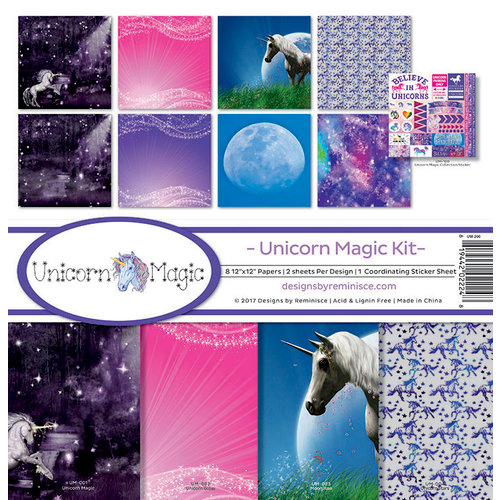 Reminisce - Unicorn Magic Collection - 12 x 12 Collection Kit